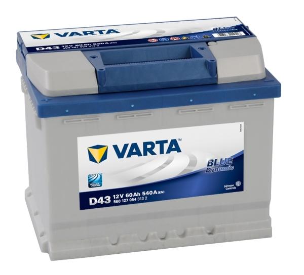 VARTA D43 60 Ah 540 A 1 (+ -) 242x175x190
