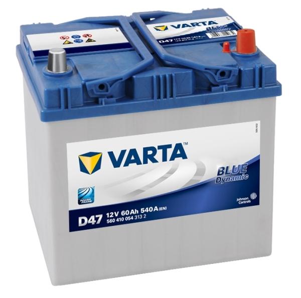 VARTA D47 60 Ah 540 A 0 (- +) 232x173x225