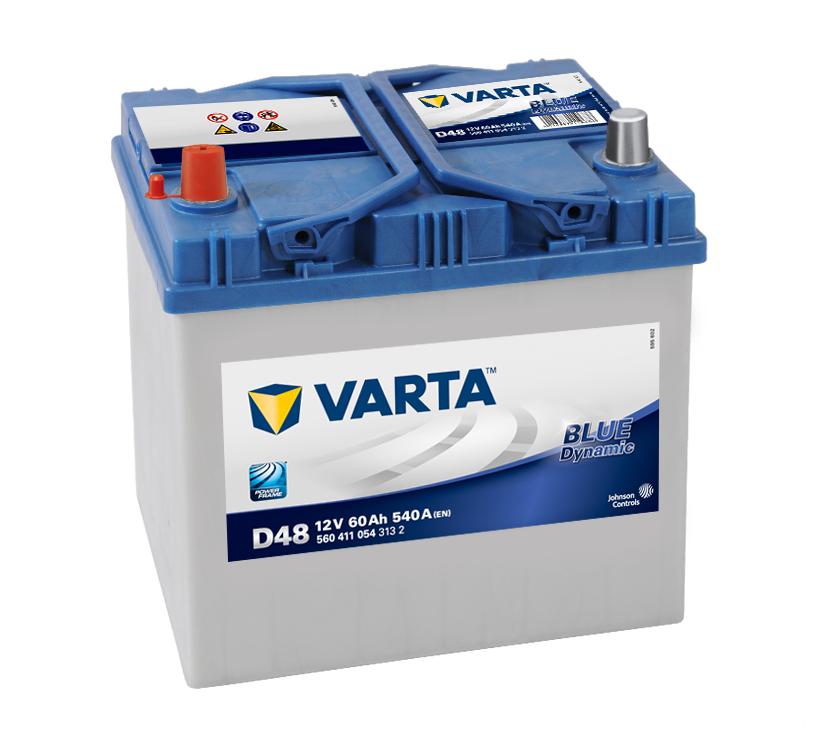 VARTA D48 60 Ah 540 A 1 (+ -) 232x173x225