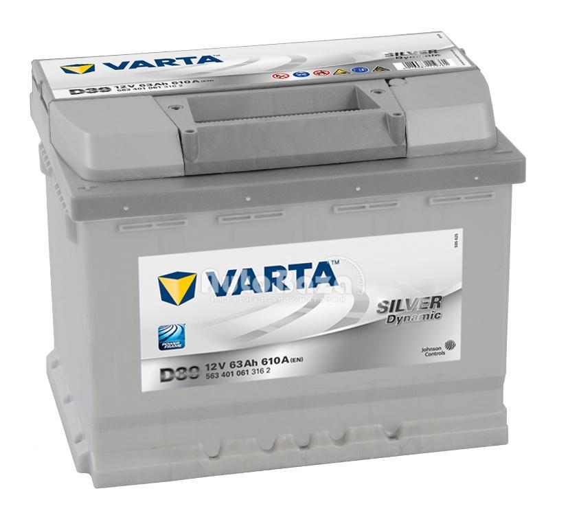 VARTA D39 63 Ah 610 A 1 (+ -) 242x175x190