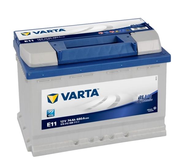 VARTA E11 74 Ah 680 A 0 (- +) 278x175x190
