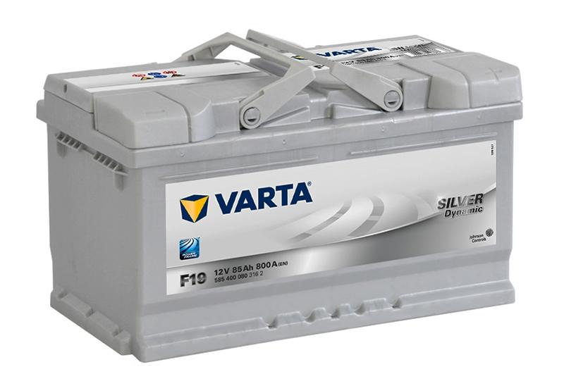 VARTA F19 85 Ah 800 A 0 (- +) 315x175x190