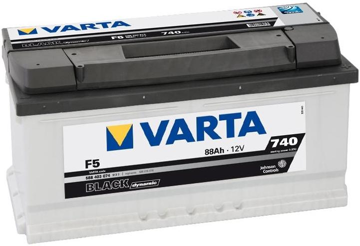 VARTA F5 88 Ah 740 A 0 (- +) 353x175x175