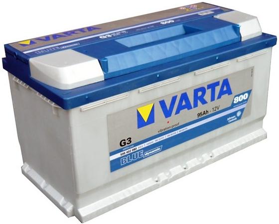 VARTA G3 95 Ah 800 A 0 (- +) 353x175x190