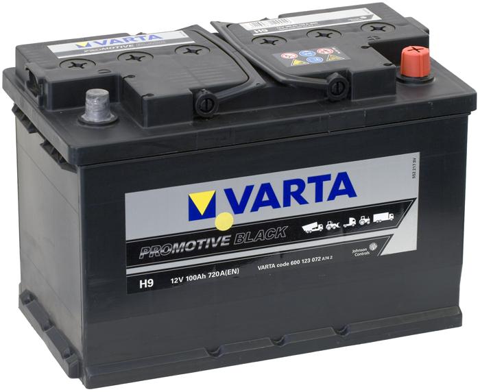VARTA H9 100 Ah 720 A 0 (- +) 313x175x205
