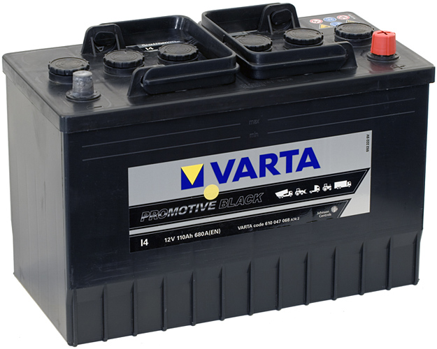 VARTA I4 110 Ah 680 A 0 (- +) 347x173x234