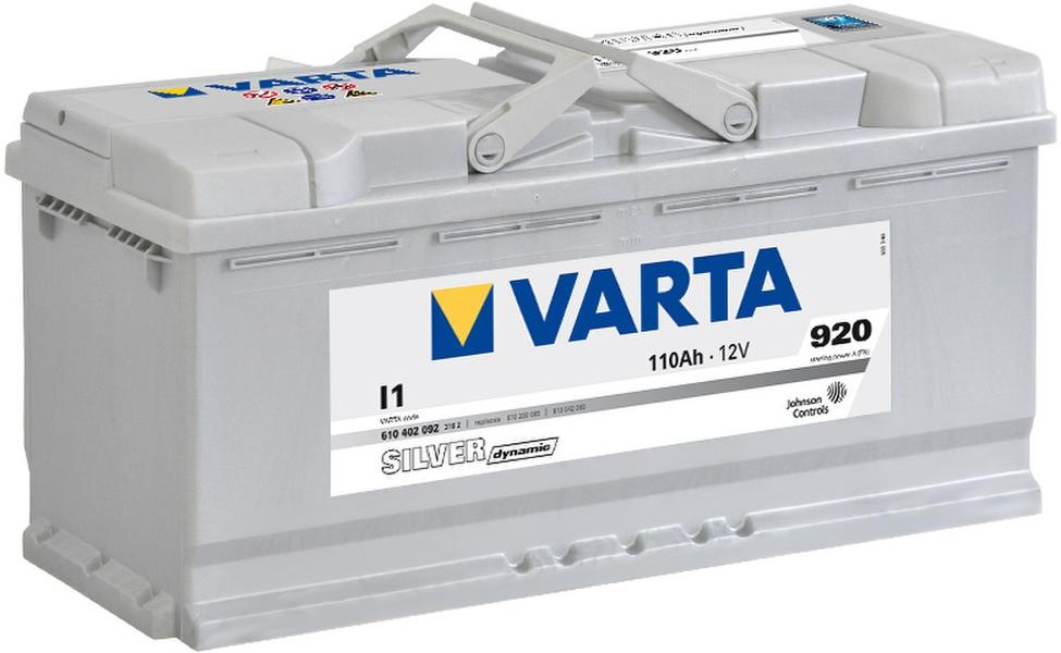VARTA I1 110 Ah 920 A 0 (- +) 393x175x190