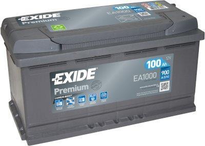 EXIDE EA1000 PREMIUM 100Ah 900A (- +) 353x175x190