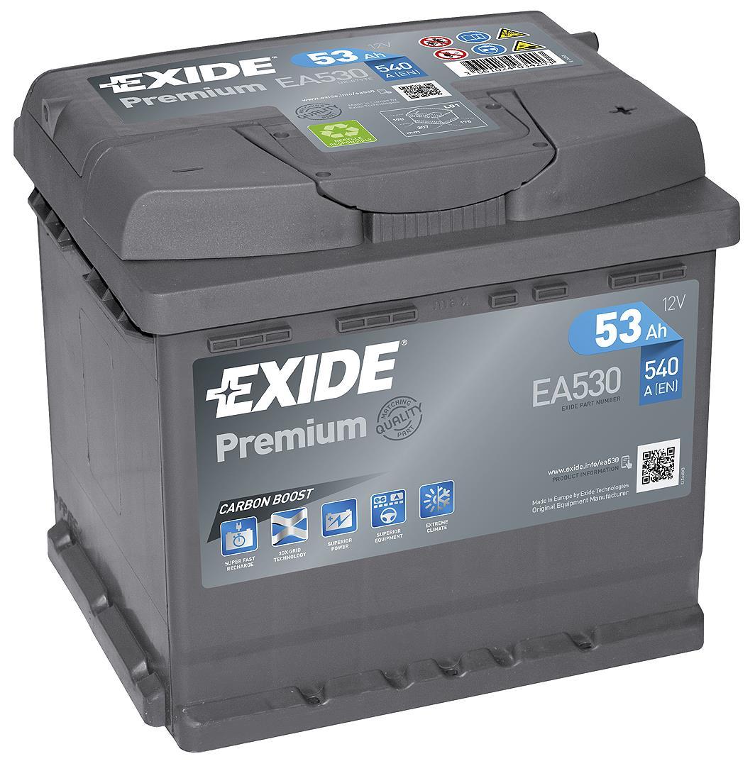 EXIDE S106-EA530 PREMIUM 53Ah 540A (- +) 207x175x190