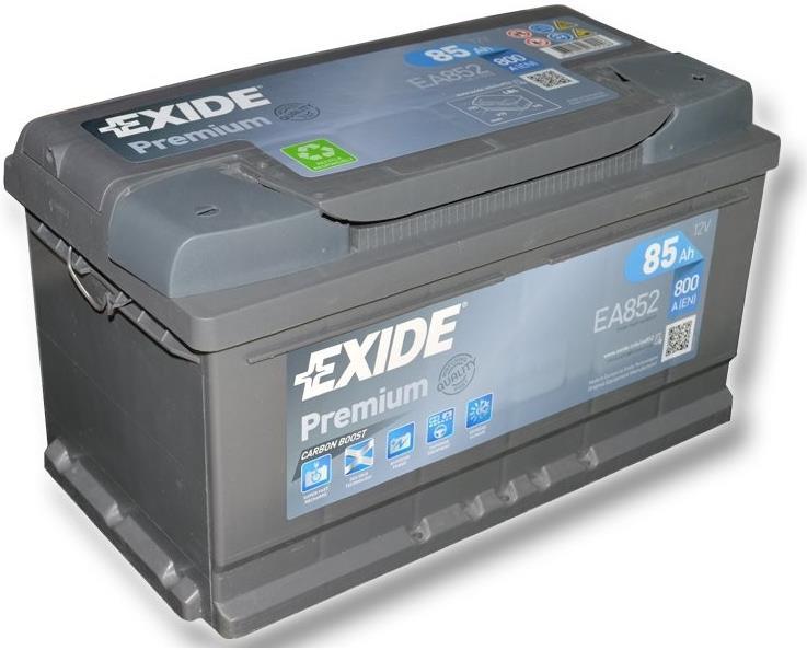 EXIDE EA852 PREMIUM 85Ah 800A (- +) 315x175x175