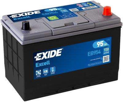 EXIDE EB954 EXCELL 95Ah 720A (- +) 306x173x222