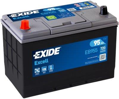 EXIDE EB955 EXCELL 95Ah 720A (+ -) 306x173x222