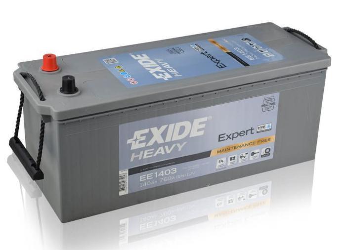 EXIDE EE1403  SHD Expert 140Ah 760A (+ -) 513x189x223