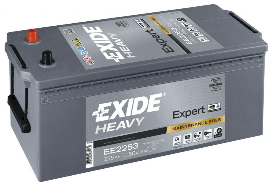 EXIDE EE2253  SHD Expert 225Ah 1150A (+ -) 518x279x240