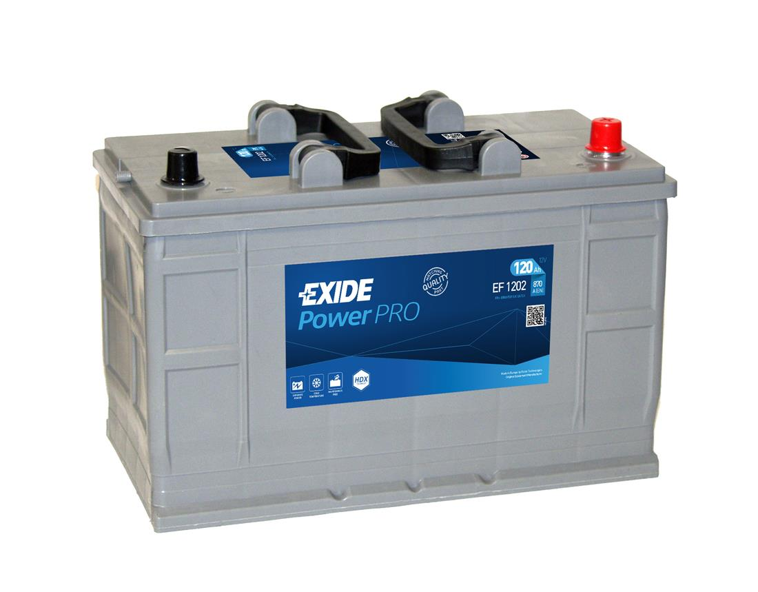 EXIDE EF1202  Professional Power 120Ah 870A (- +) 349x175x235