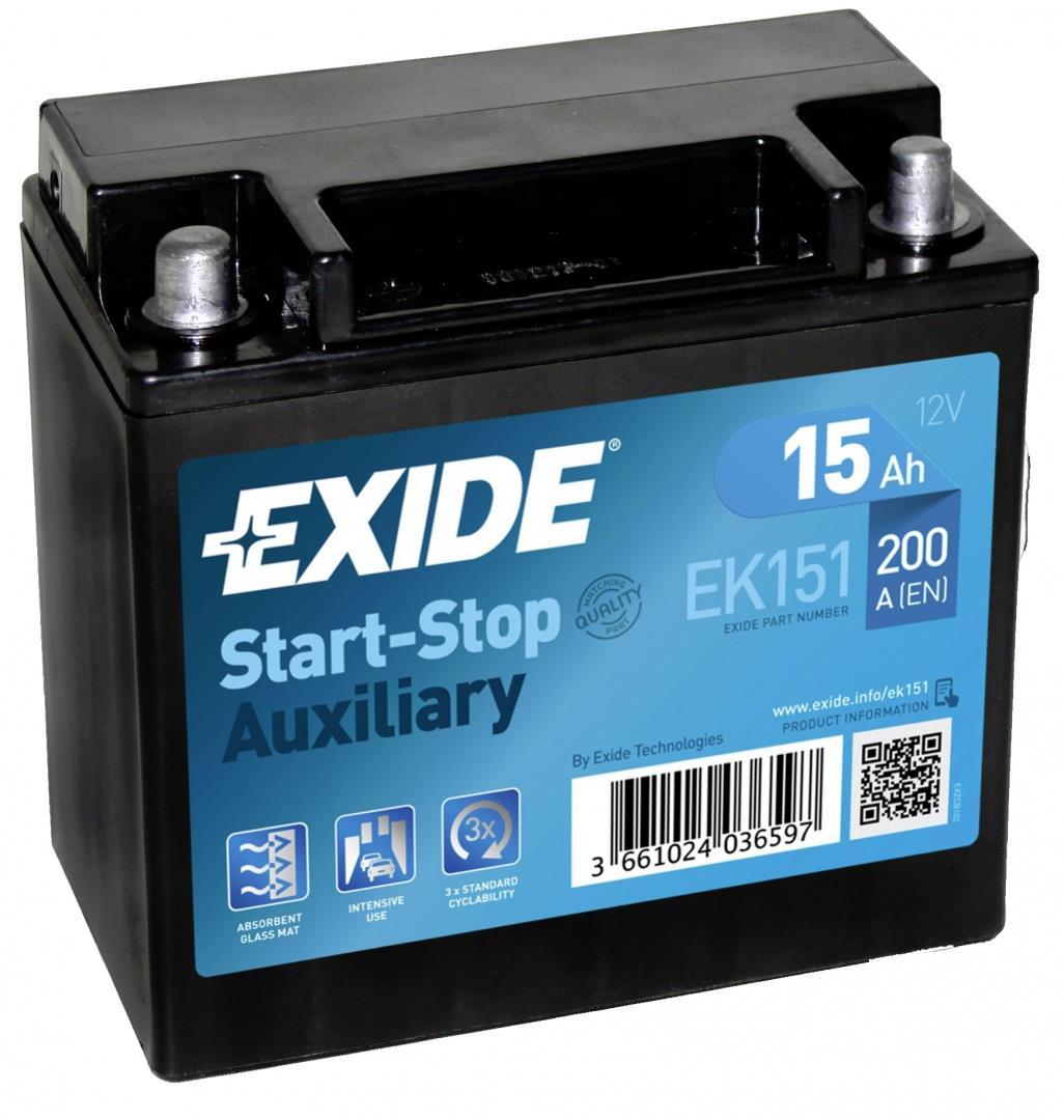 EXIDE EK151 AGM 15Ah 200A (+ -) 150x90x145