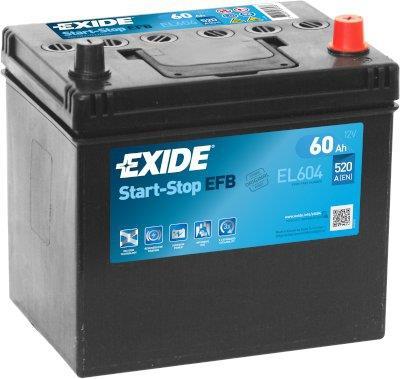 EXIDE S106-EL604  ECM (EFB) 60Ah 520A (- +) 230x173x222