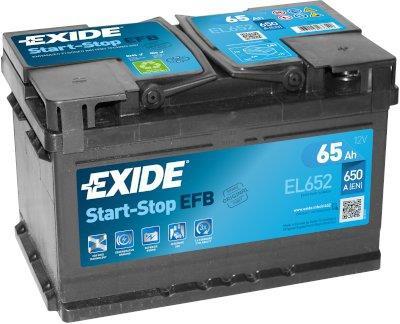 EXIDE S106-EL652  ECM (EFB) 65Ah 650A (- +) 278x175x175