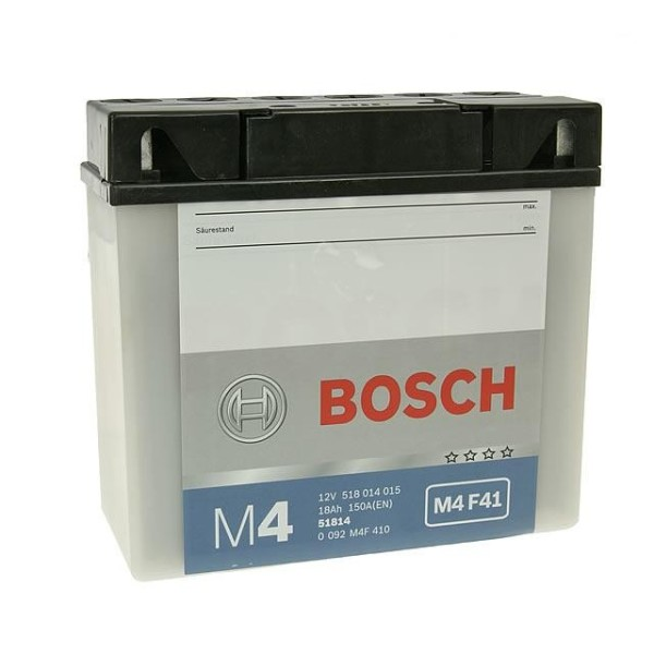 BOSCH M4F41 MC Fresh pack 12 V 18 Ah 100 A 3 186x82x173