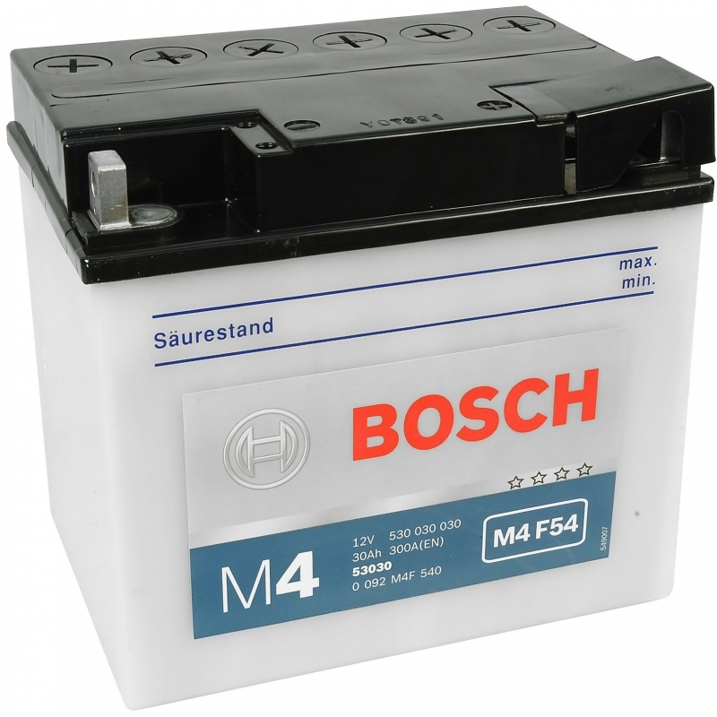 BOSCH M4F54 MC Fresh pack 12 V 30 Ah 180 A 3 186x130x171