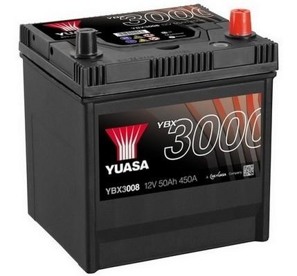 YUASA YBX3008 50Ah 450A SMF  0(- +) 202x173x225