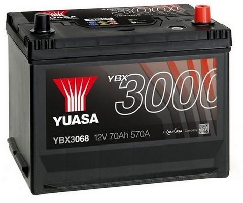 YUASA YBX3068 70Ah 570A SMF  0(- +) 269x174x225