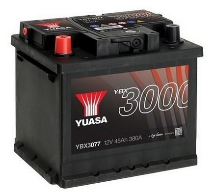 YUASA YBX3077 45Ah 380A SMF  1(+ -) 207x175x190