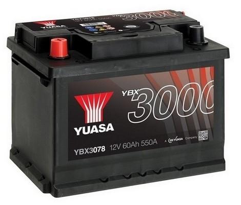 YUASA YBX3078 60Ah 550A SMF  1(+ -) 243x175x190