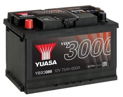 YUASA YBX3086 75Ah 650A SMF  1(+ -) 278x175x190