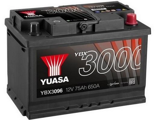 YUASA YBX3096 75Ah 650A SMF  0(- +) 278x175x190