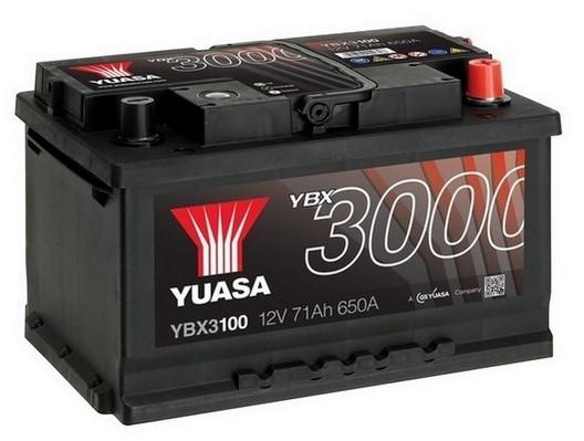YUASA YBX3100 71Ah 650A SMF  0(- +) 278x175x175