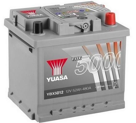 YUASA YBX5012 52Ah 480A Silver High Performance  0(- +) 207x175x190