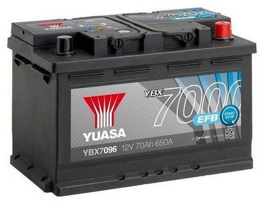 YUASA YBX7096 70Ah 680A EFB Start Stop  0(- +) 278x175x190