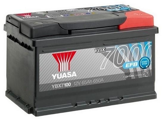 YUASA YBX7100 65Ah 650A EFB Start Stop  0(- +) 278x175x175