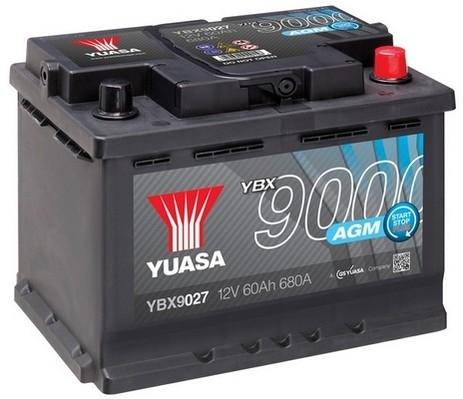 YUASA YBX9027 60Ah 680A AGM Start Stop Plus  0(- +) 242x178x190