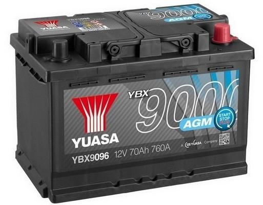YUASA YBX9096 70Ah 760A  AGM Start Stop Plus  0(- +) 278x175x190