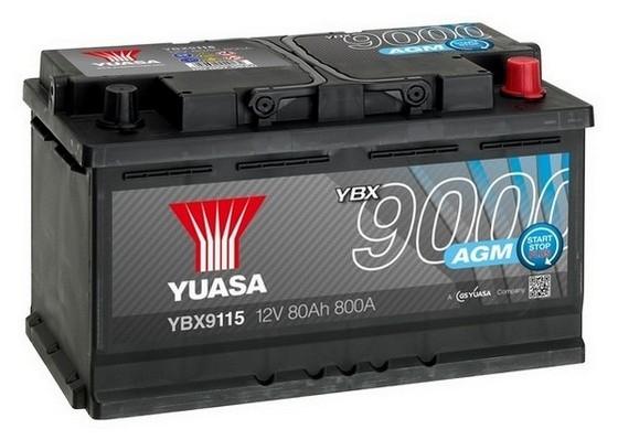 YUASA YBX9115 80Ah 800A  AGM Start Stop Plus  0(- +) 317x175x190