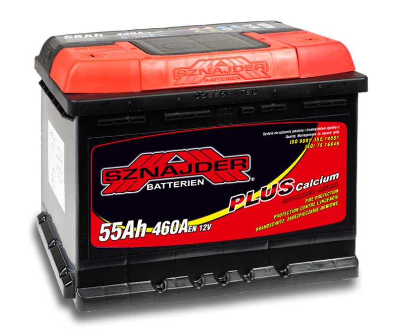 SZNAJDER 555 65 Plus 55 Ah 460 A 1(+ -) 242x175x190
