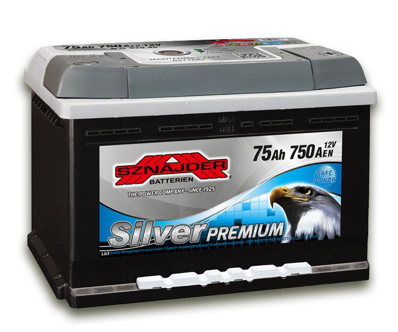 SZNAJDER 575 45 Silver Premium 75 Ah 750 A O(- +) 275x175x175