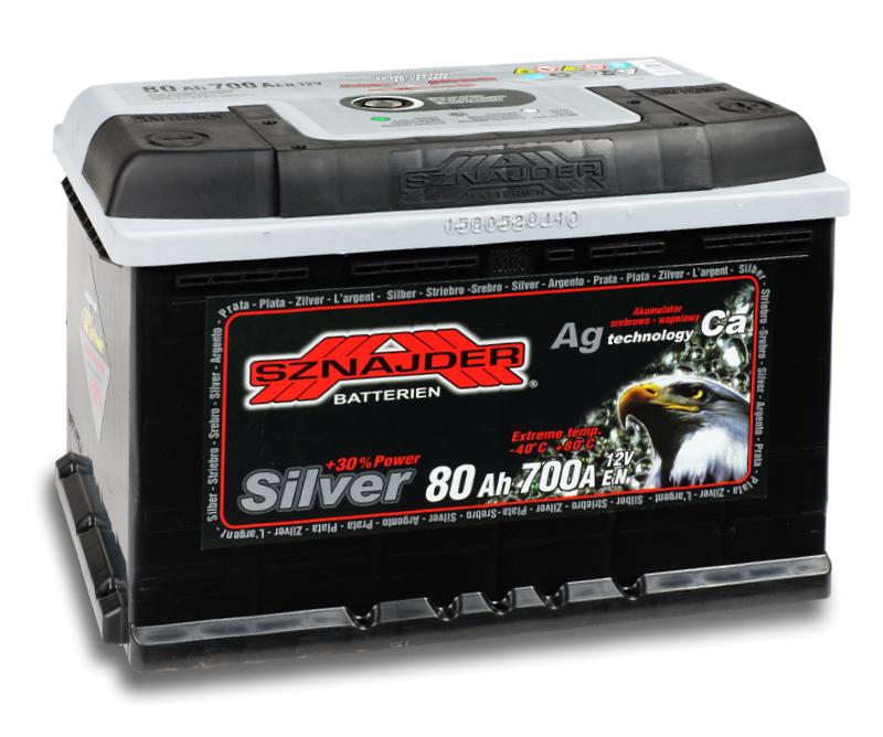 SZNAJDER 580 25 SILVER 80 Ah 700 A O(- +) 275x175x190