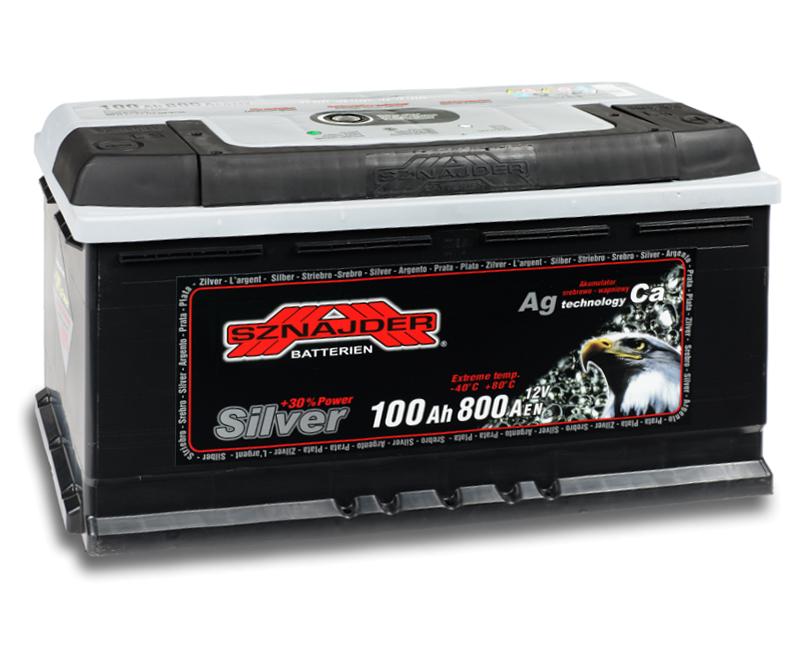 SZNAJDER 600 25 SILVER 100 Ah 800 A O(- +) 350x175x190