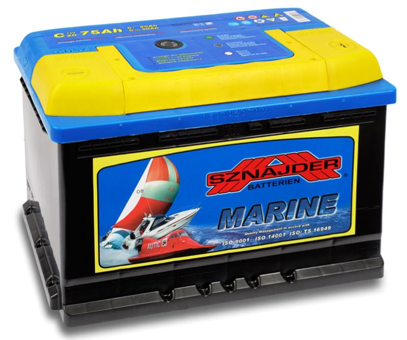 SZNAJDER 857 50 Marine 75 Ah - A O(- +) 275x175x190
