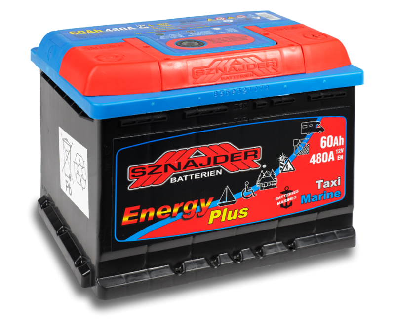 SZNAJDER 956 07 Energy Plus 60 Ah 480 A O(- +) 242x175x190