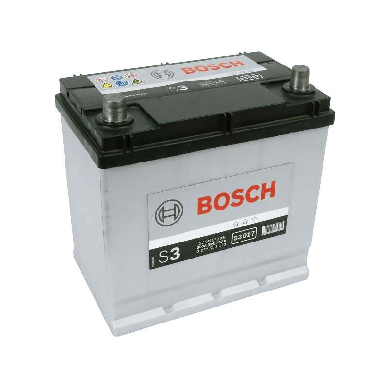 Bosch S3 017 Car Battery 12v 45Ah 300A 049, 545 079 030