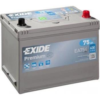 EXIDE S106-EA754 PREMIUM 75Ah 630A (- +) 270x173x222