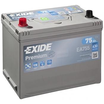 EXIDE S106-EA755 PREMIUM 75Ah 630A (+ -) 270x173x222