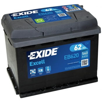 EXIDE S106-EB620 EXCELL 62Ah 540A (- +) 242x175x190