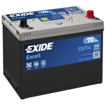 EXIDE S106-EB704 EXCELL 70Ah 540A (- +) 266x172x223