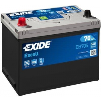 EXIDE S106-EB705 EXCELL 70Ah 540A (+ -) 266x172x223