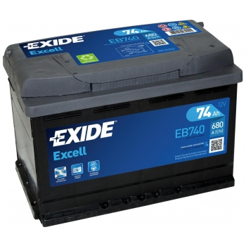 EXIDE S106-EB740 EXCELL 74Ah 680A (- +) 278x175x190